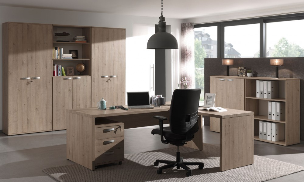 un bureau fonctionnel et design pour un environnement. Black Bedroom Furniture Sets. Home Design Ideas