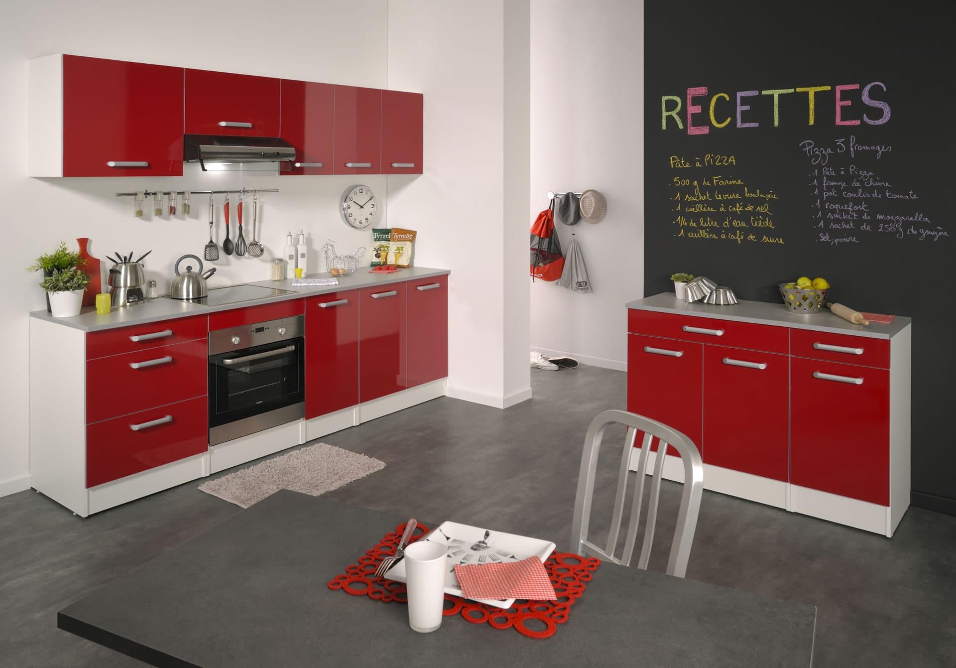 Meuble salle de bain rouge pas cher - Petite cuisine equipee pas chere ...