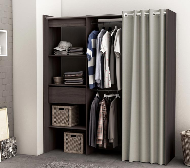 Dressing extensible contemporain coloris chêne vulcano Louna
