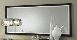 Miroir design laqué blanc et noir Krista