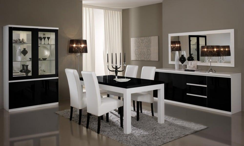 Decoration salle a manger blanche - Salle a manger noire ...