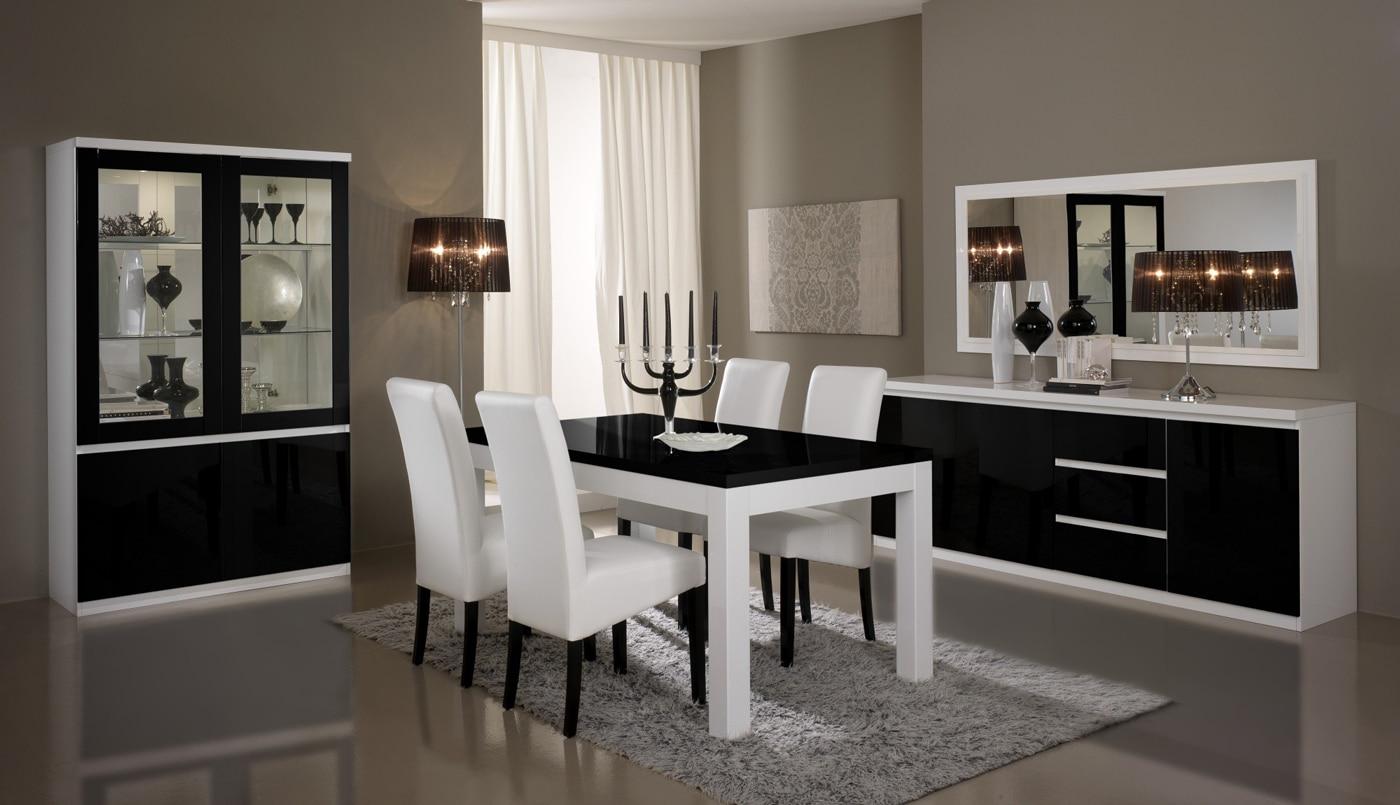 Salle A Manger Gris Blanc Noir inspiration déco : alliez le noir et le blanc - deladeco.fr