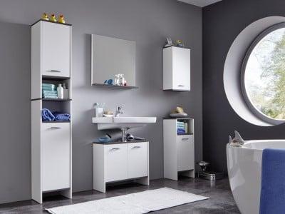 Ensemble de salle de bain contemporain blanc Toscane
