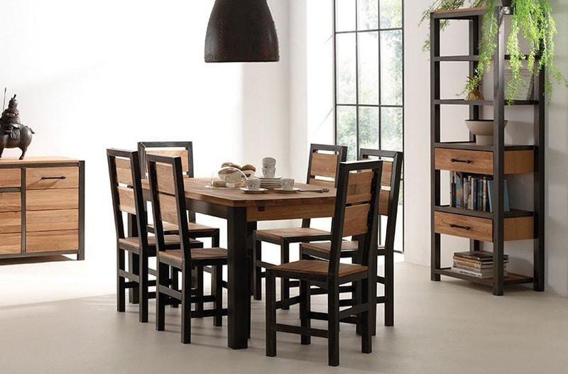 table_rectangle_metal_et_bois_manufacture