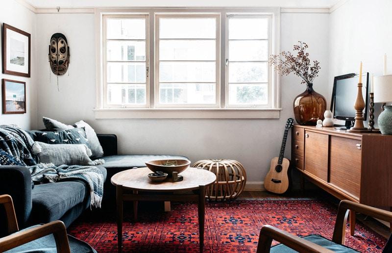 décoration-style-vintage-tapis-kilim-meuble-scandinave-FrencyFancypoitncom