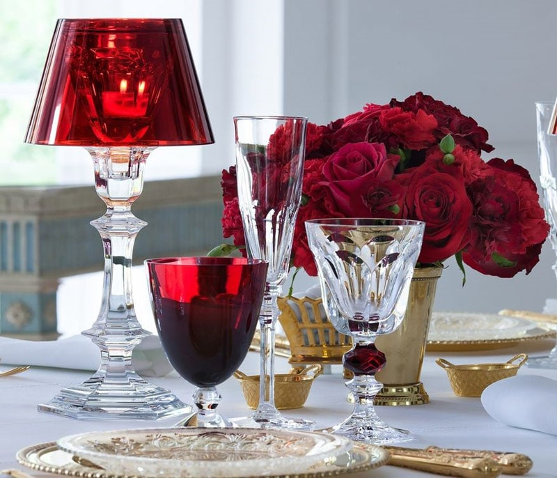 le cristal en deco de table