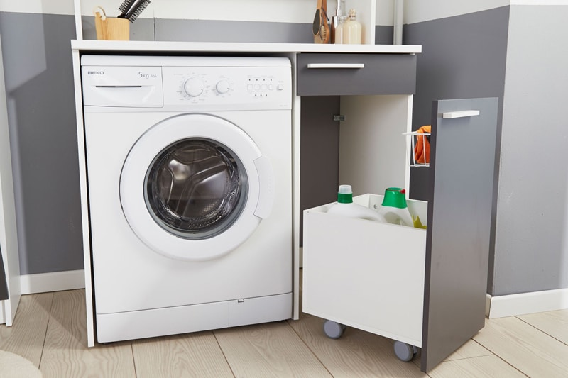 espace optimisé pour la machine à laver