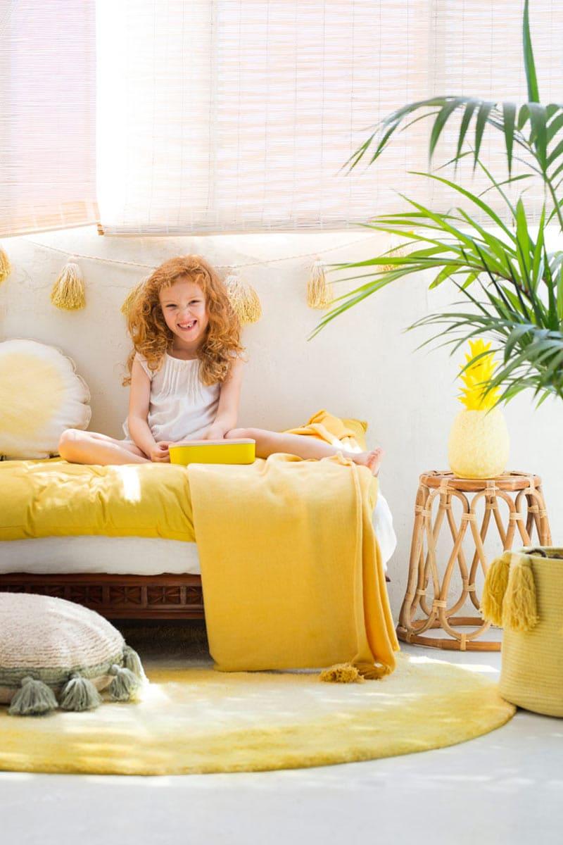 un salon jaune pour la bonne humeur