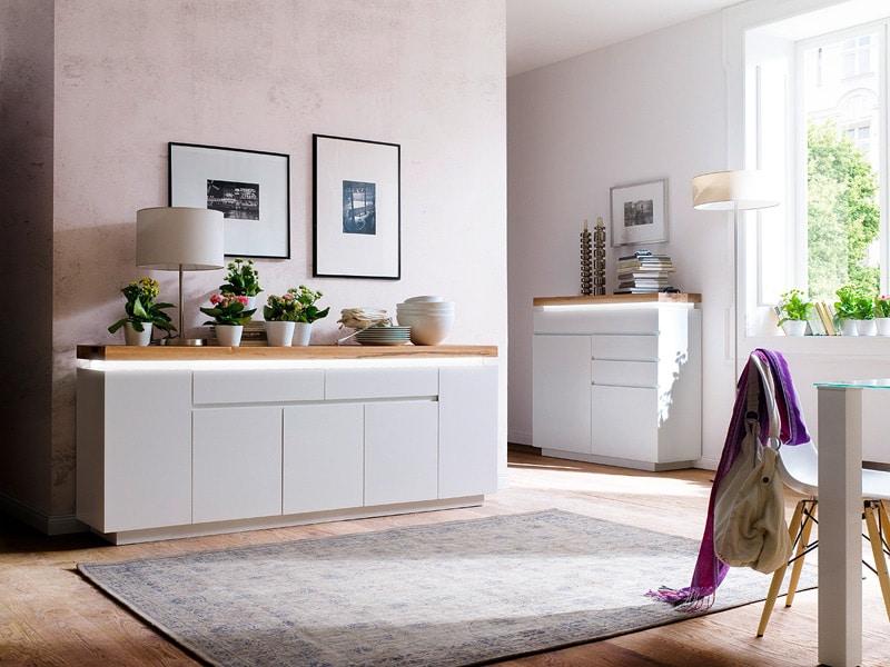 une pièce à vivre meublée et décorée