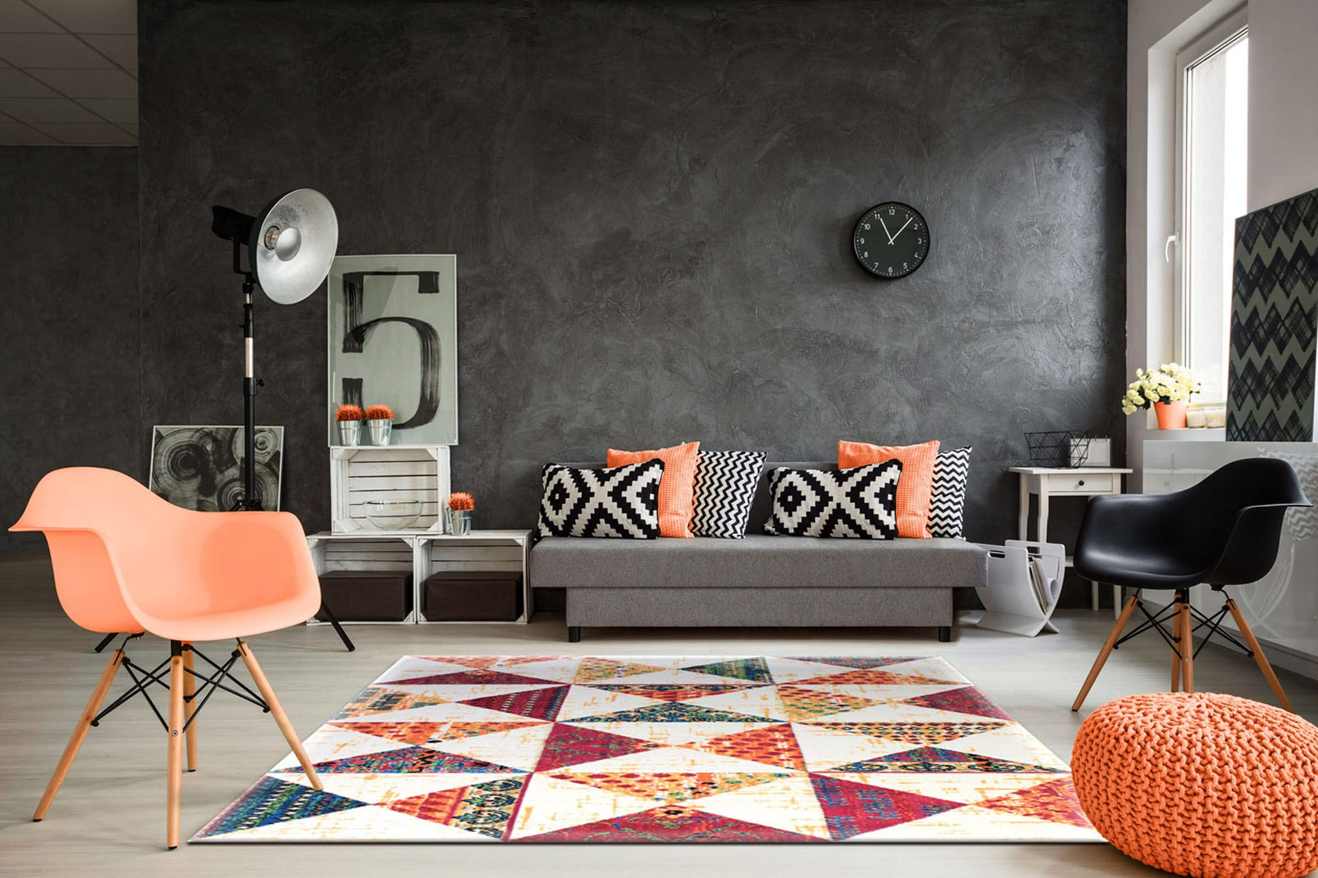 Canapé Campagne Chic Pas Cher un tapis de salon pour un relooking rapide ! - deladeco.fr