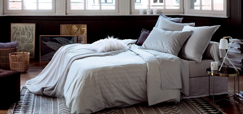 drap de lit blanc de haute qualité