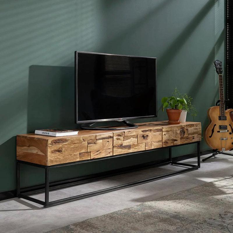 meuble tv bois massif