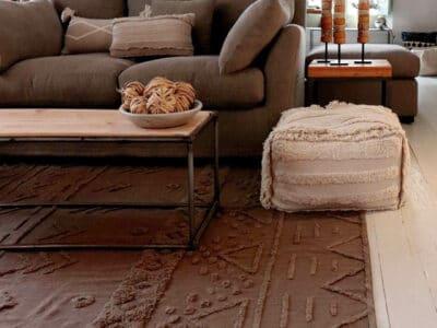 tapis en coton lavable