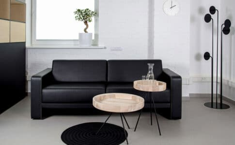 table basse ronde industrielle