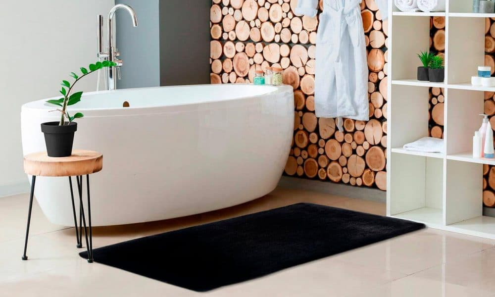 tapis de bain doux shaggy