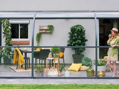 abri de terrasse en verre