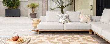 tapis moderne extérieur beige