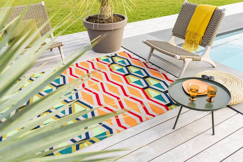 tapis multicolore extérieur design